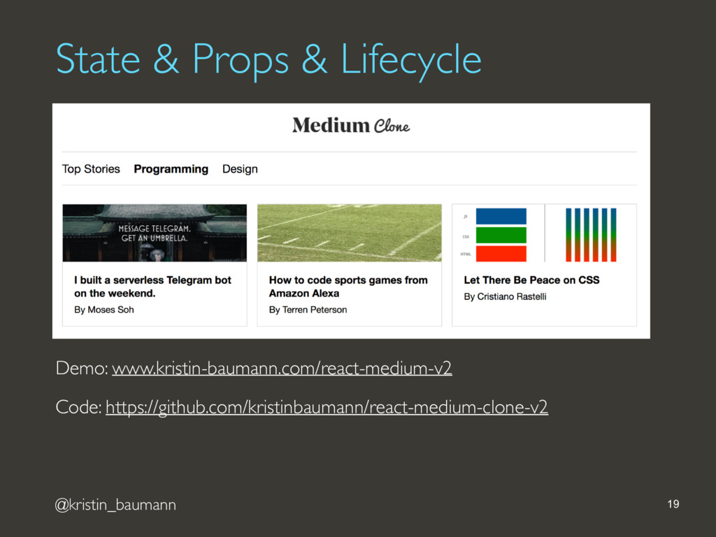 @kristin_baumann State & Props & Lifecycle 19 D...