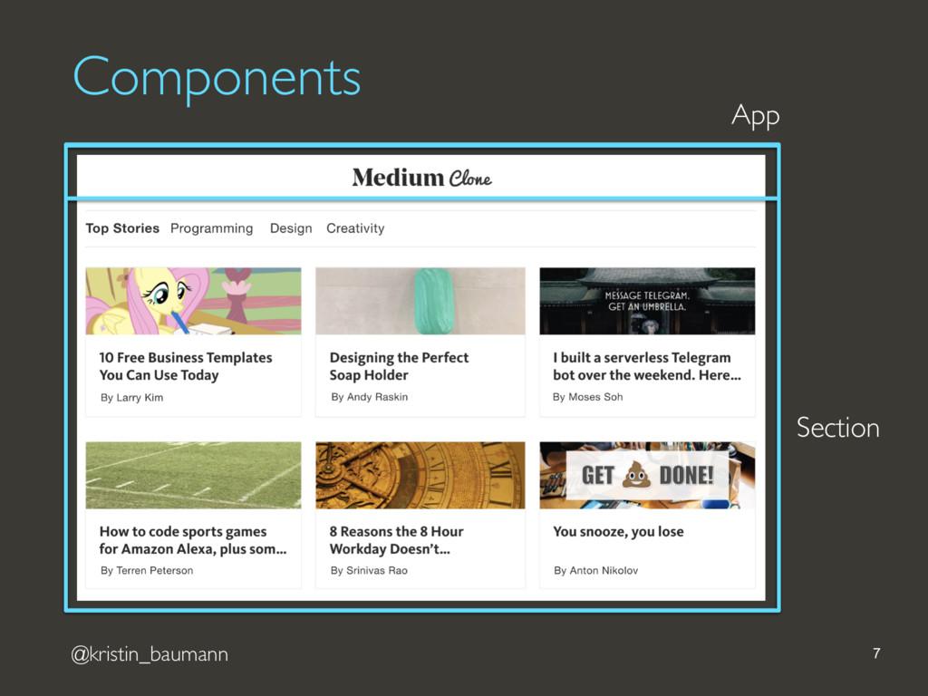 @kristin_baumann 7 App Section Components