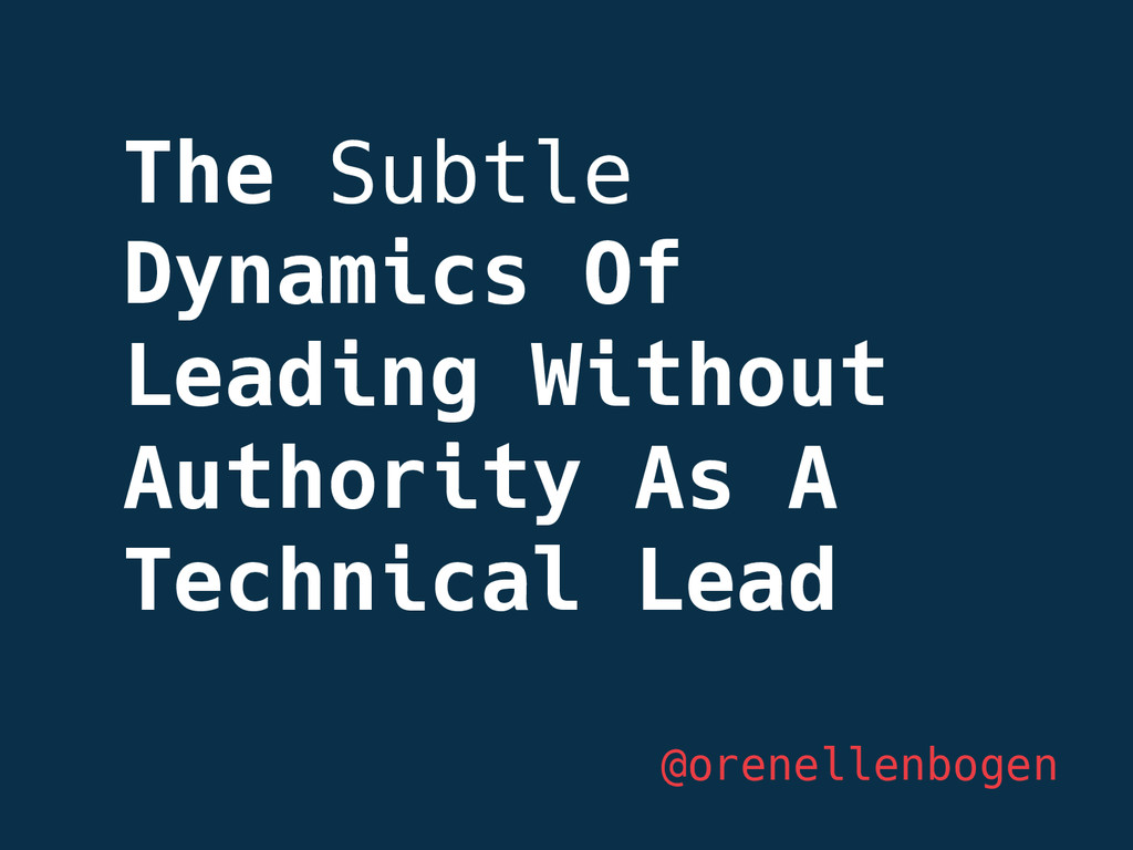 The Subtle Dynamics Of Leading Without Authorit...