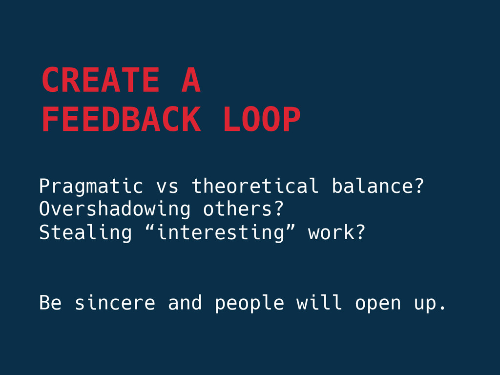 Pragmatic vs theoretical balance? Overshadowin...