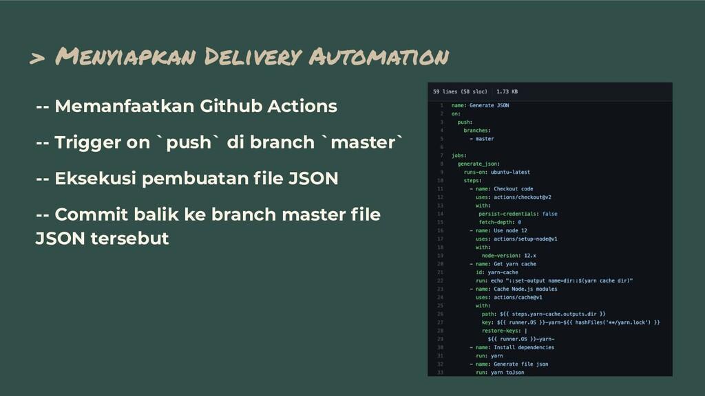 > Menyiapkan Delivery Automation -- Memanfaatka...