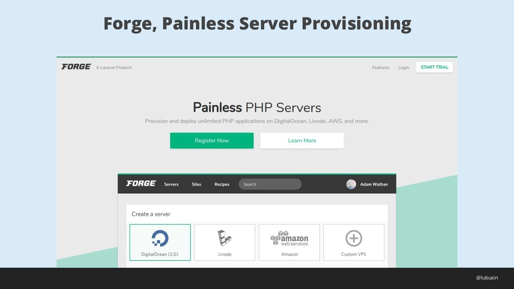 Forge, Painless Server Provisioning @lubusin