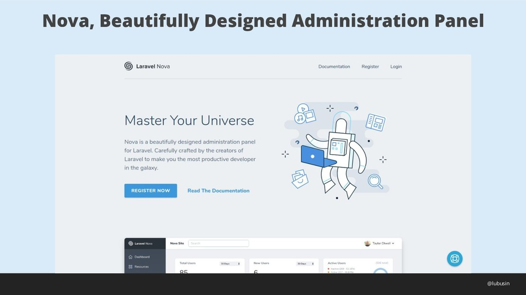 Nova, Beautifully Designed Administration Panel...