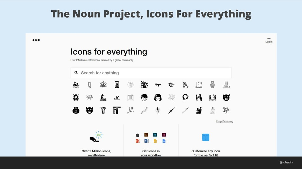 The Noun Project, Icons For Everything @lubusin