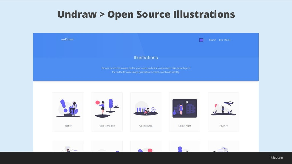 Undraw > Open Source Illustrations @lubusin