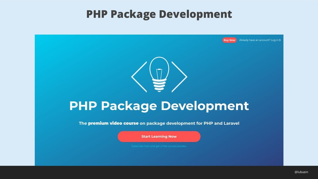 PHP Package Development @lubusin