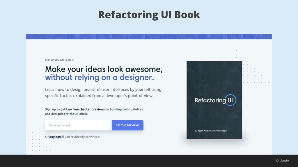 Refactoring UI Book @lubusin
