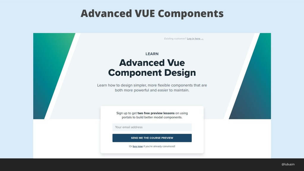 Advanced VUE Components @lubusin
