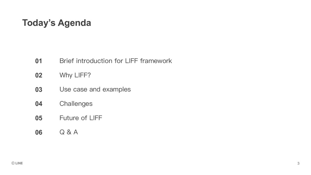 01 02 03 04 05 06 Today's Agenda Brief introduc...