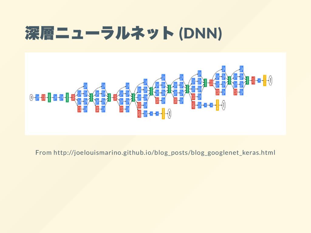 深層ニュー ラルネット (DNN) From http://joelouismarino.gi...