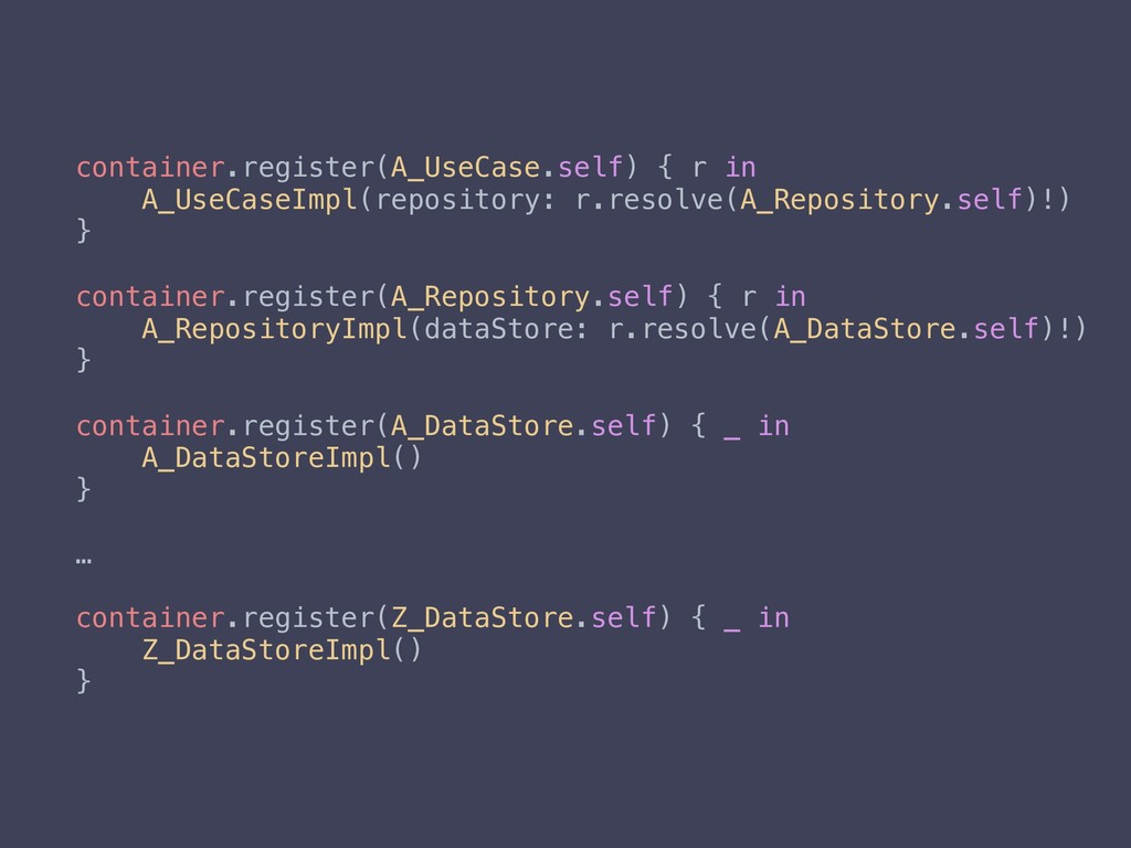container.register(A_UseCase.self) { r in A_Use...