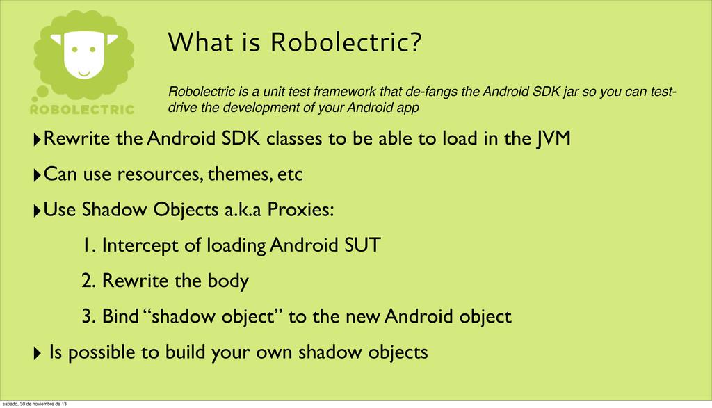 What is Robolectric? Robolectric is a unit test...