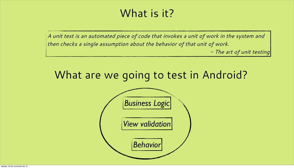 What is it? A unit test is an automated piece o...