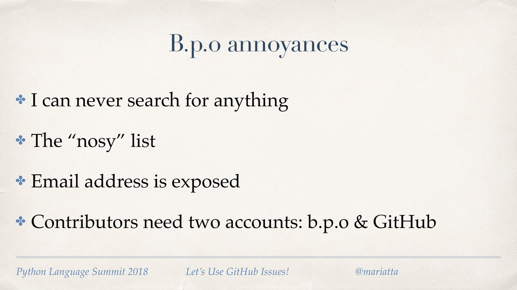 B.p.o annoyances ✤ I can never search for anyth...
