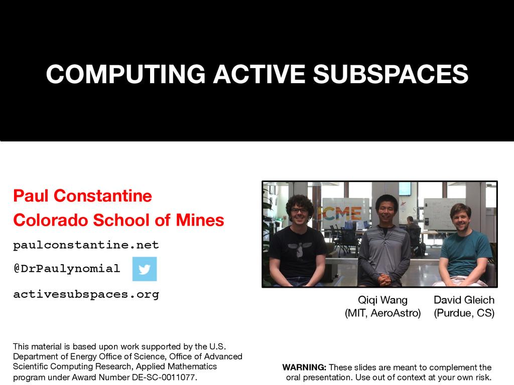 Paul Constantine  Colorado School of Mines pa...