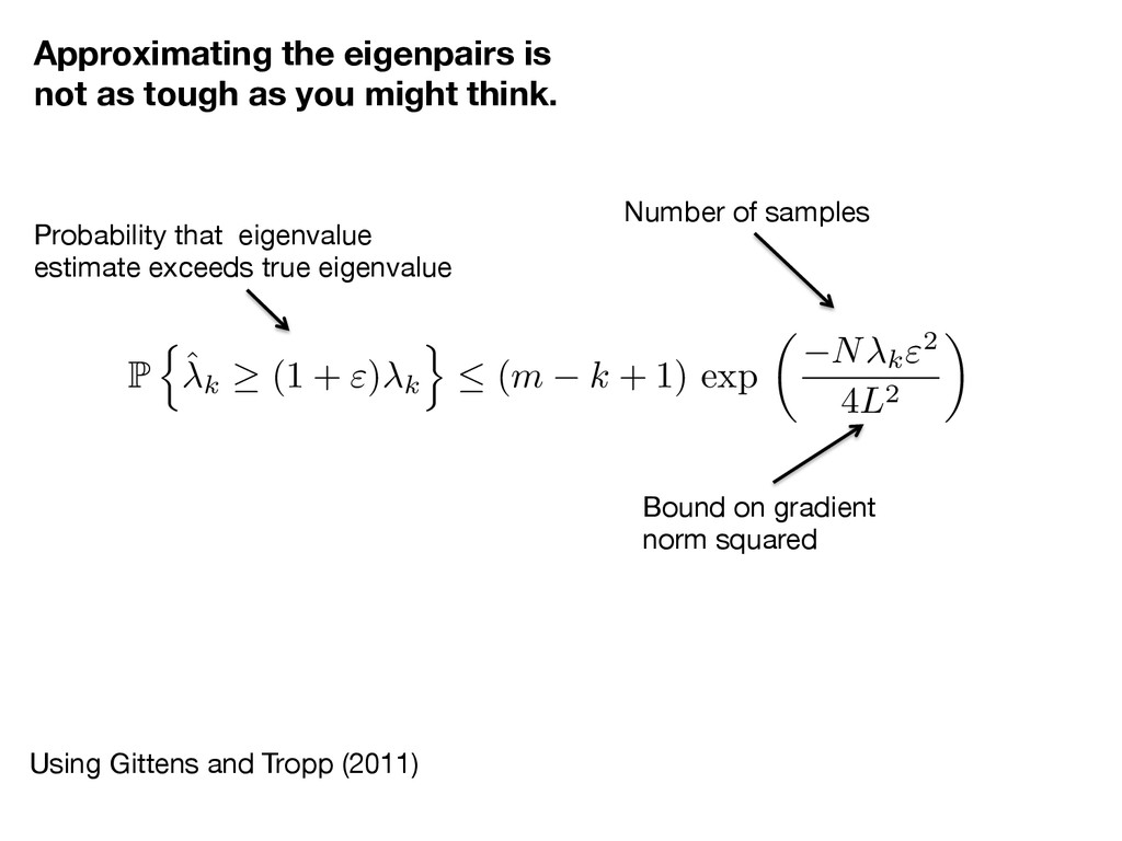 Approximating the eigenpairs is not as tough as...