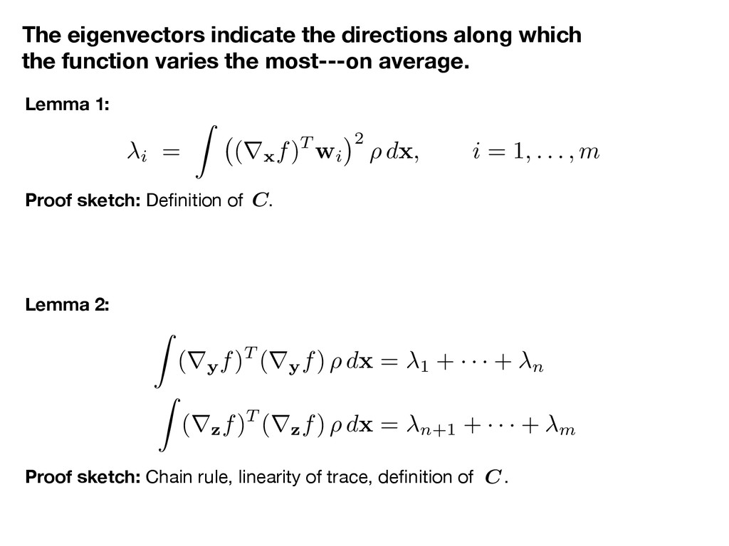 The eigenvectors indicate the directions along ...