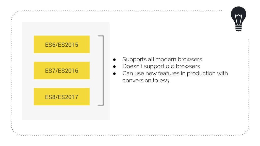 ● Supports all modern browsers ● Doesn't suppor...