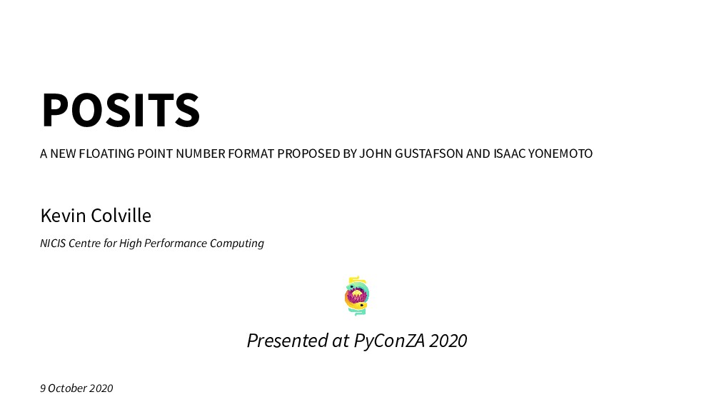 POSITS A NEW FLOATING POINT NUMBER FORMAT PROPO...