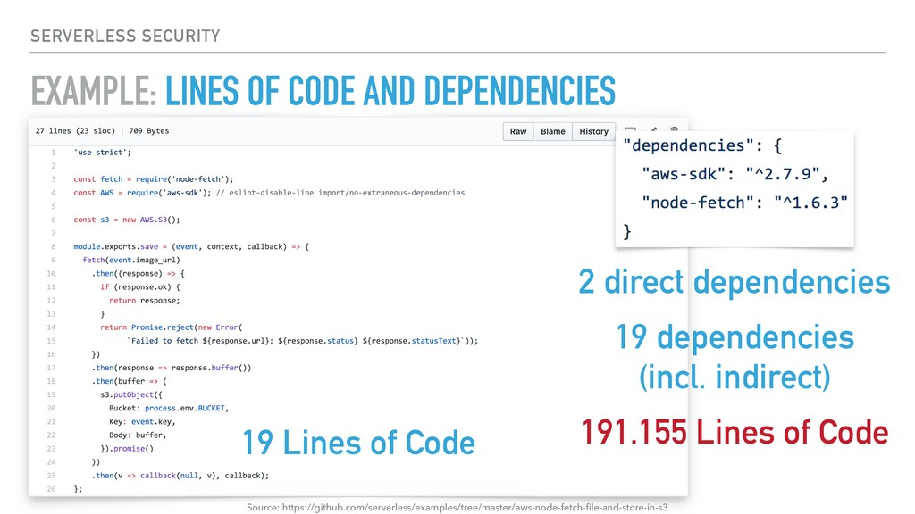 EXAMPLE: LINES OF CODE AND DEPENDENCIES SERVERL...