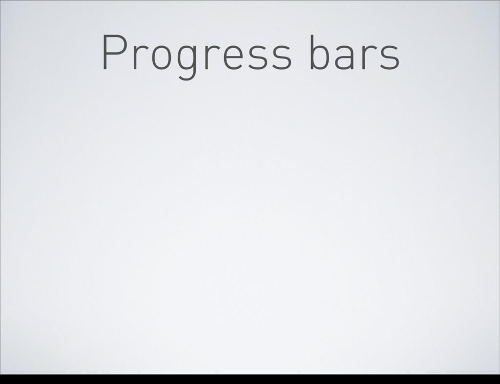 Progress bars tirsdag 10. april 12