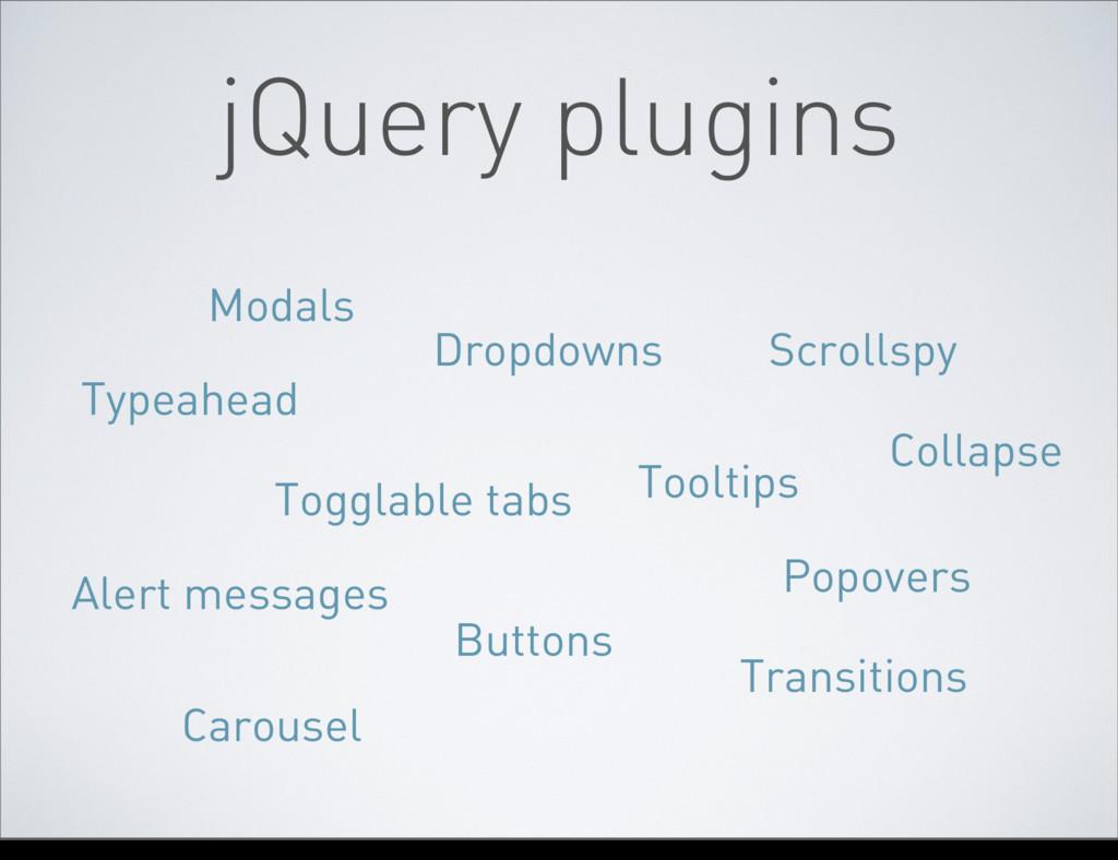jQuery plugins Modals Dropdowns Scrollspy Toggl...
