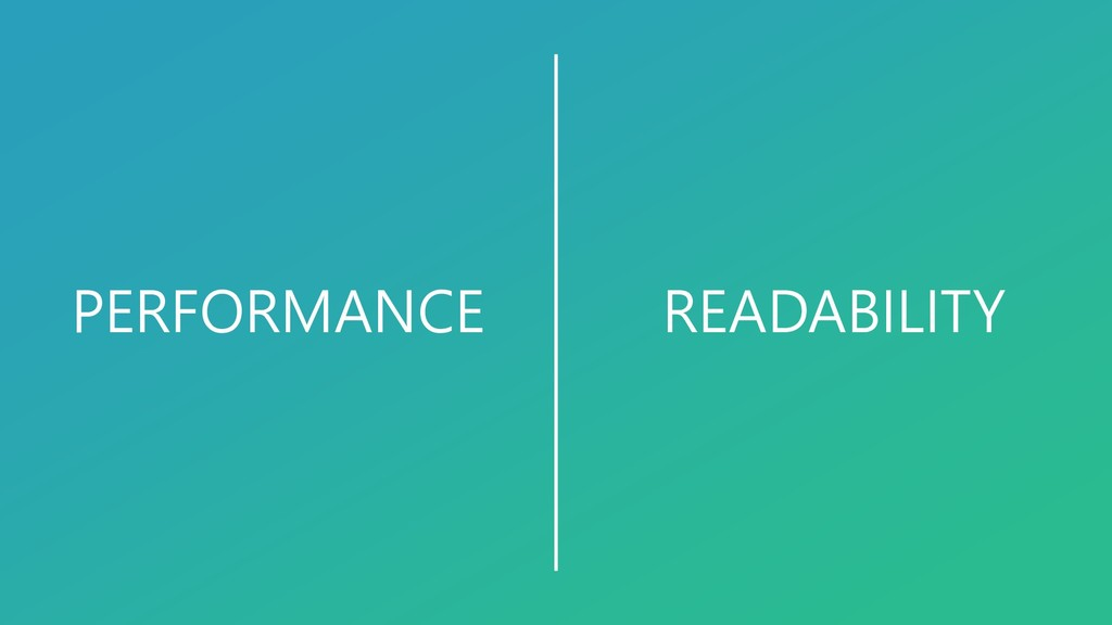 READABILITY PERFORMANCE