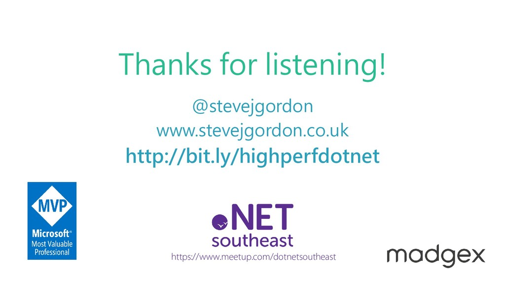 www.stevejgordon.co.uk @stevejgordon Thanks for...