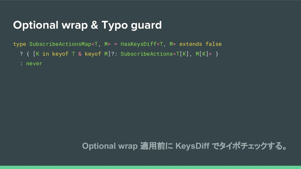 Optional wrap & Typo guard type SubscribeAction...