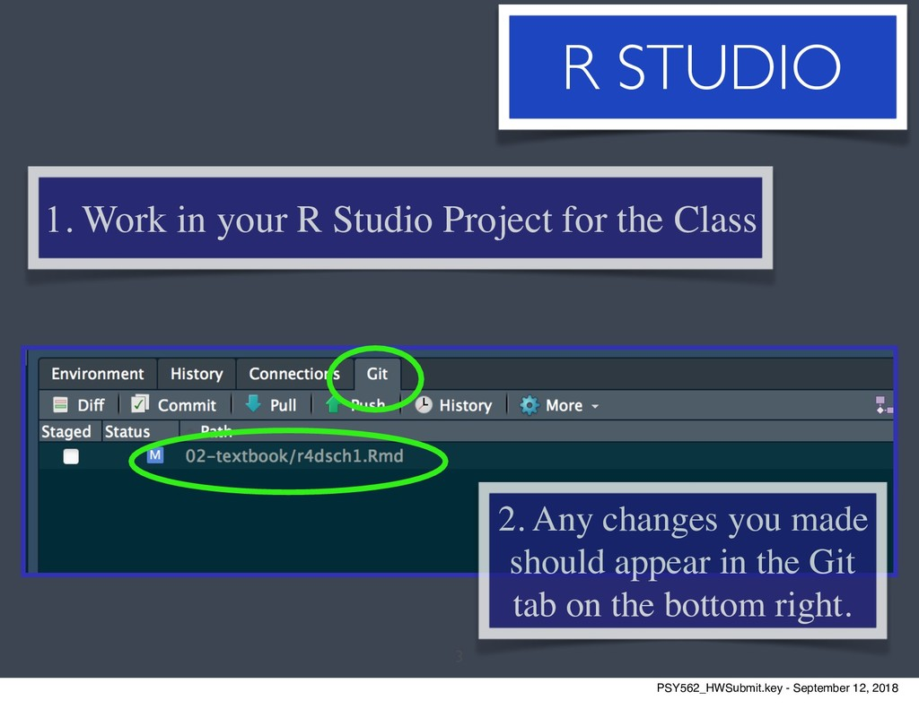 3 1. Work in your R Studio Project for the Clas...