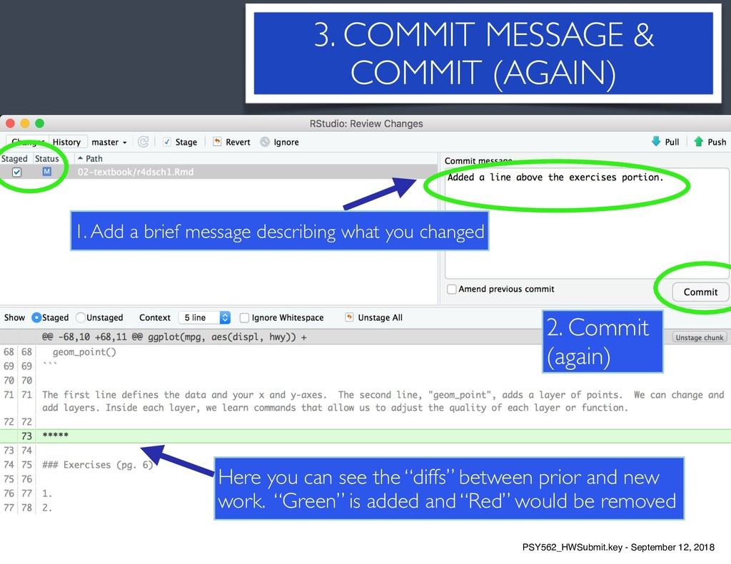 7 3. COMMIT MESSAGE & COMMIT (AGAIN) Here you c...