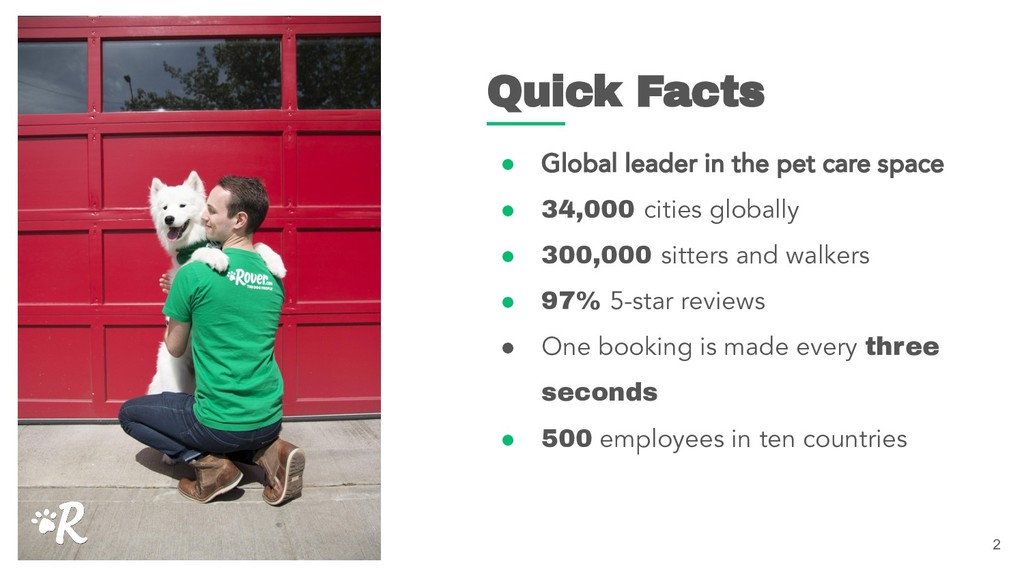 2 Quick Facts ● Global leader in the pet care s...