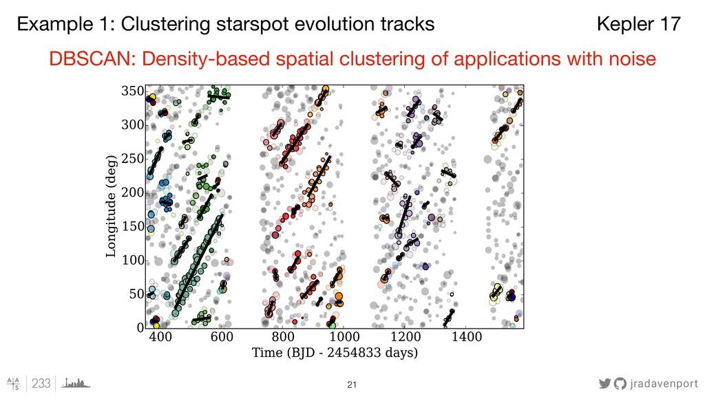 jradavenport !21 DBSCAN: Density-based spatial ...
