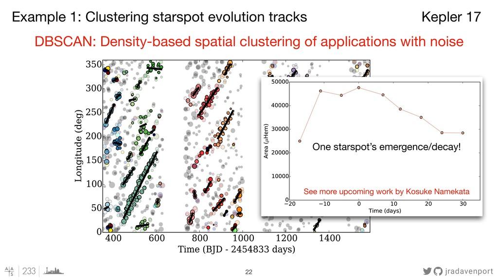 jradavenport !22 DBSCAN: Density-based spatial ...