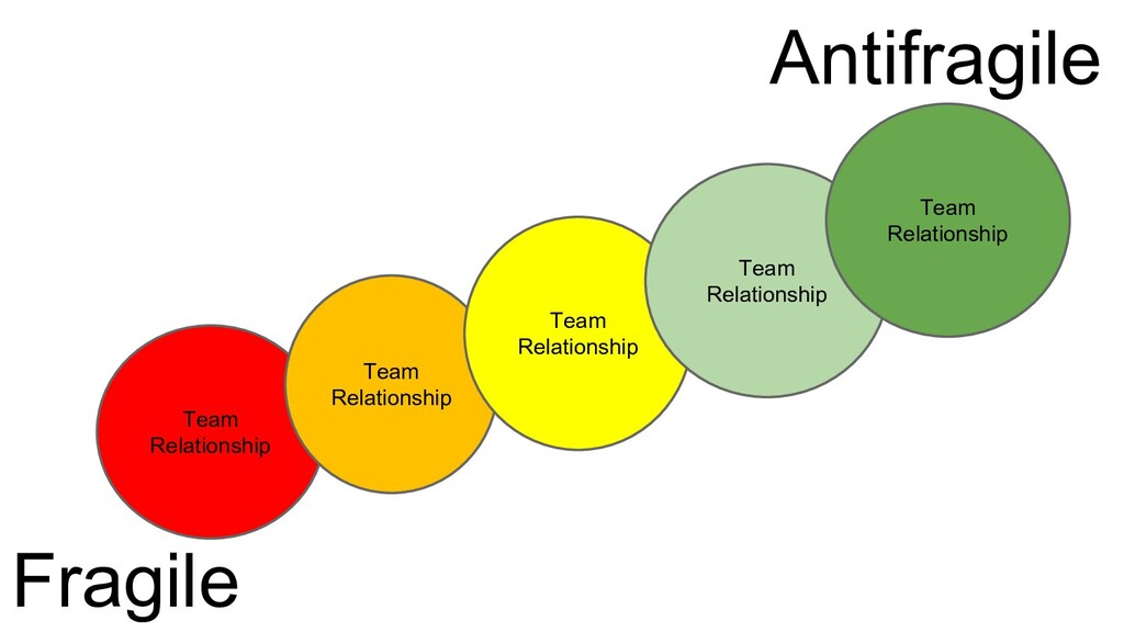 Team Relationship Antifragile Fragile