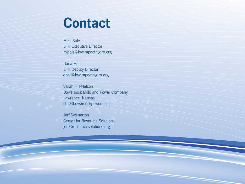 Contact Mike Sale LIHI Executive Director mjsal...