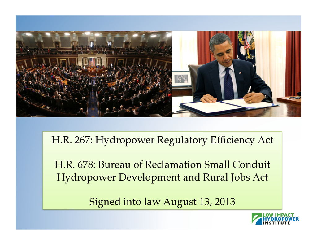 H.R. 267: Hydropower Regulatory Efficiency Act! ...