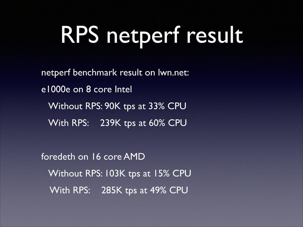 RPS netperf result netperf benchmark result on ...