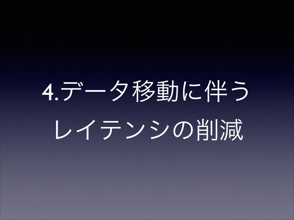 4.σʔλҠಈʹ͏ ϨΠςϯγͷݮ