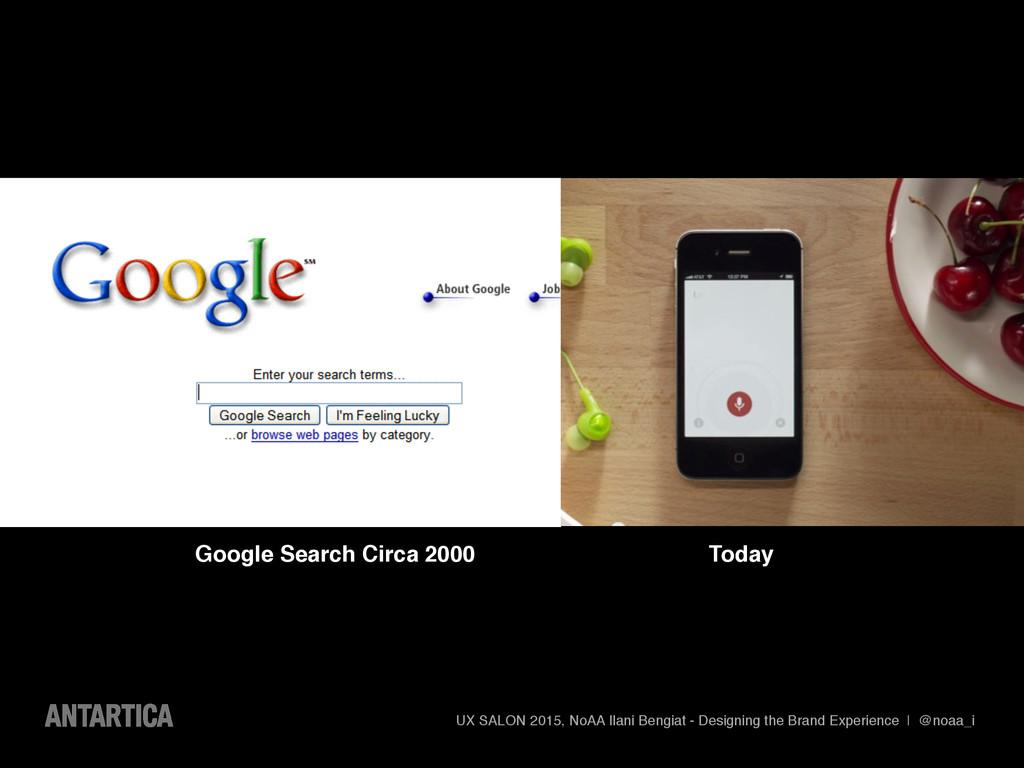 Google Search Circa 2000 UX SALON 2015, NoAA Il...