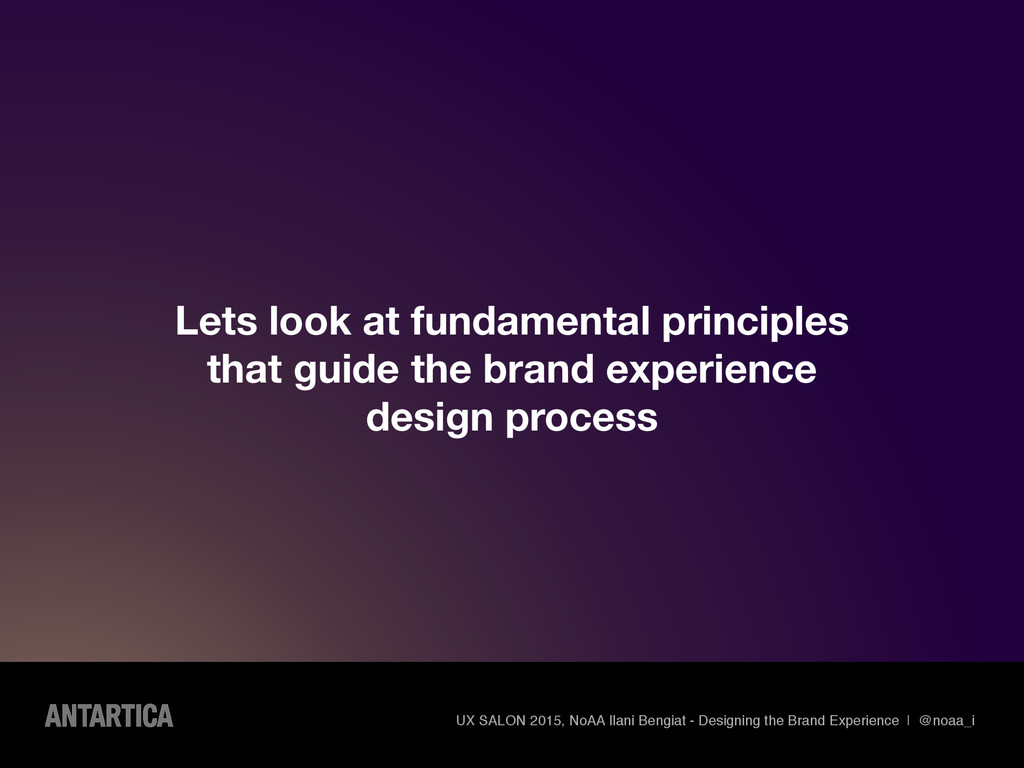 Lets look at fundamental principles that guide ...