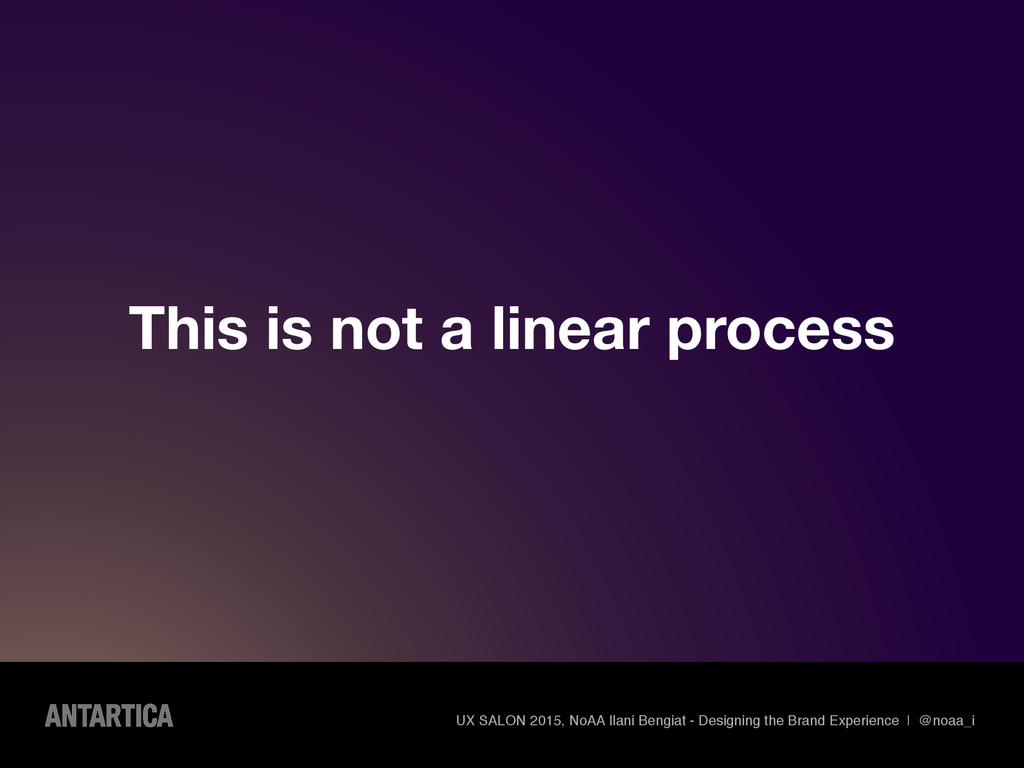 This is not a linear process UX SALON 2015, NoA...
