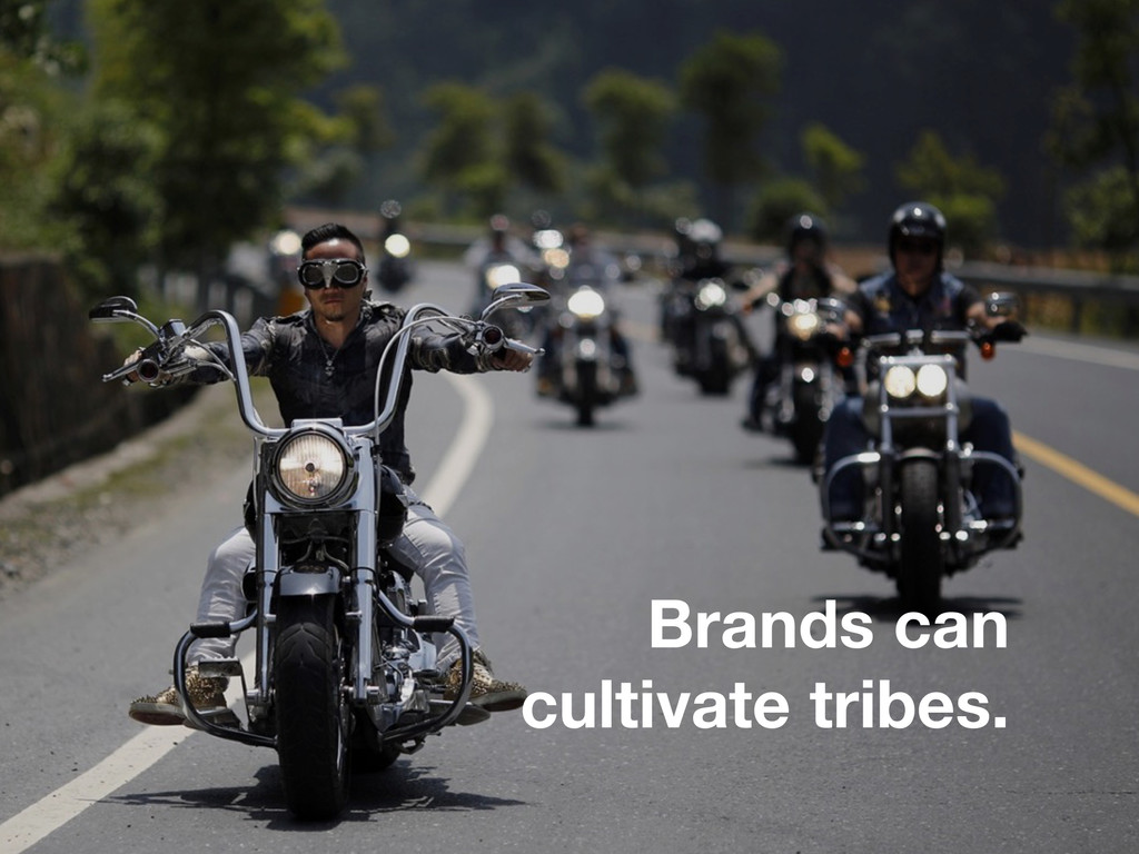 Brands can cultivate tribes.