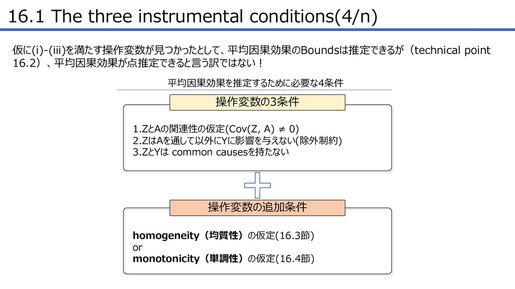 16.1 The three instrumental conditions(4/n) 仮に(...