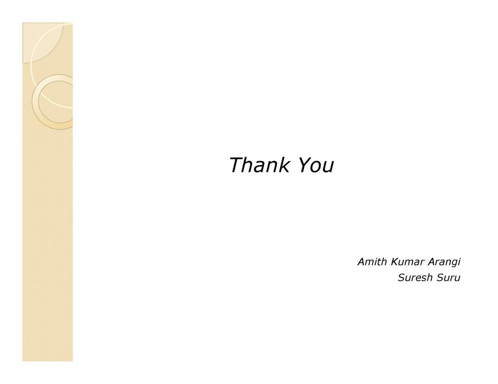 Thank You Amith Kumar Arangi Suresh Suru