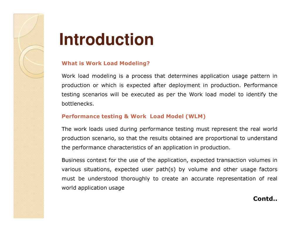 Introduction Introduction What is Work Load Mod...