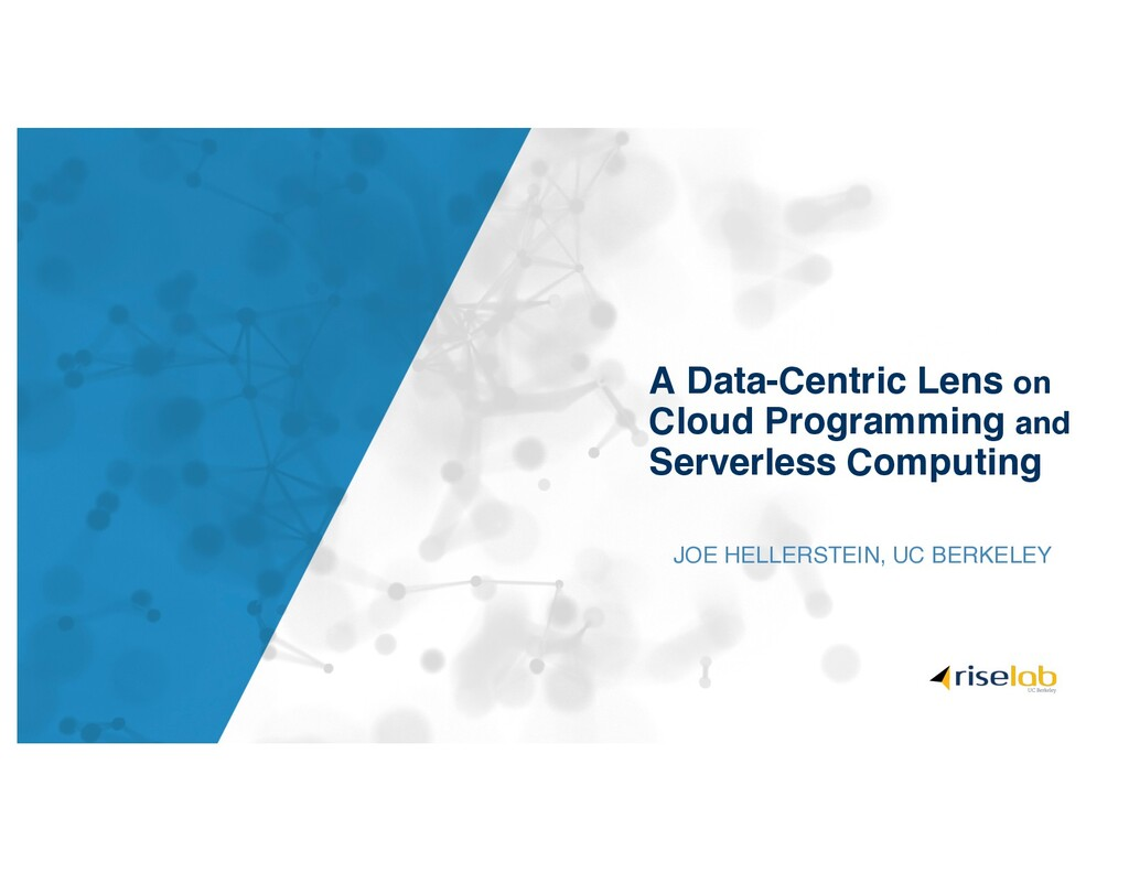 A Data-Centric Lens on Cloud Programming and Se...