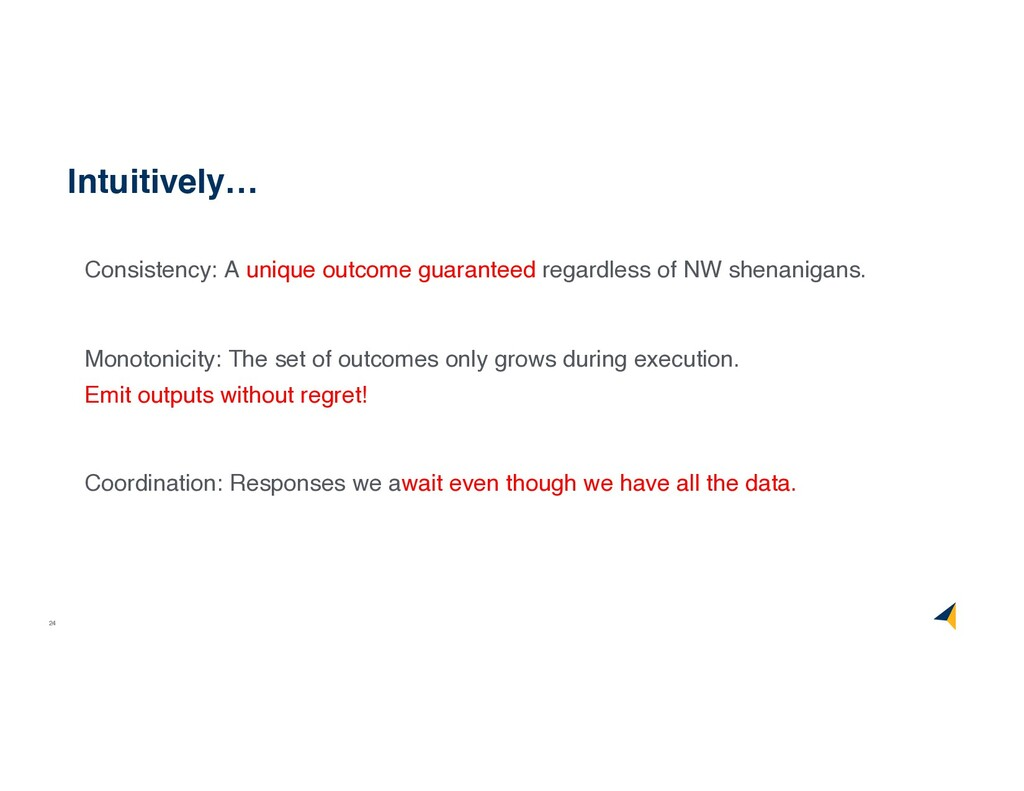 24 Intuitively… Consistency: A unique outcome g...