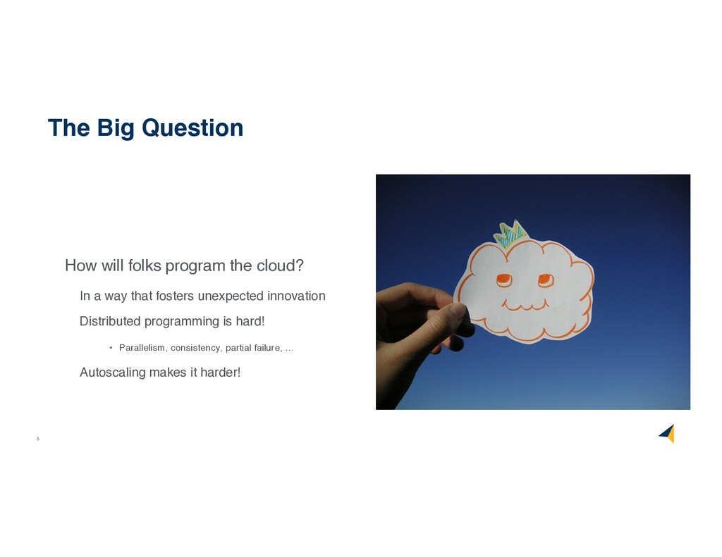 5 How will folks program the cloud? In a way th...