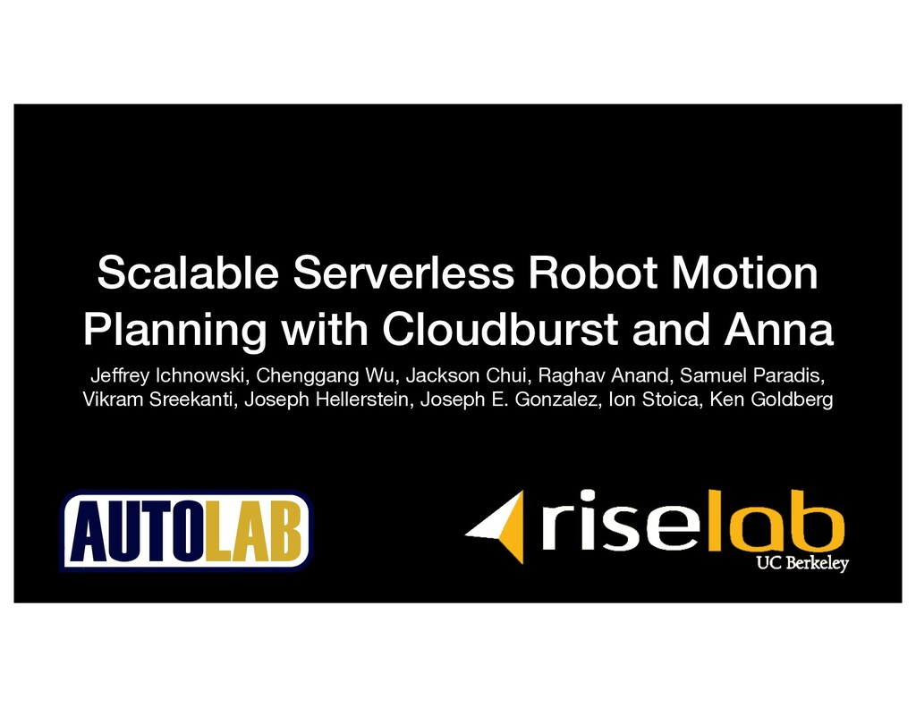 Scalable Serverless Robot Motion Planning with ...